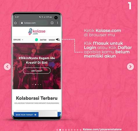Kolase.com: Bantu Pekerja Seni Wujudkan Karya Terbaiknya